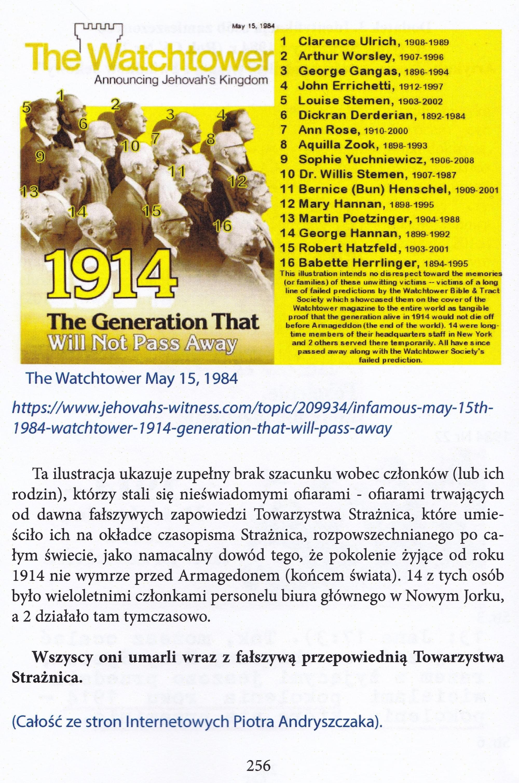 Pokolenie roku 1914 i oczekiwania Świadków Jehowy