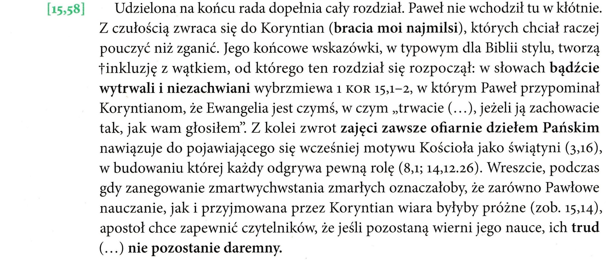 Pierwszy List do Koryntian, Wydawnictwo w Drodze