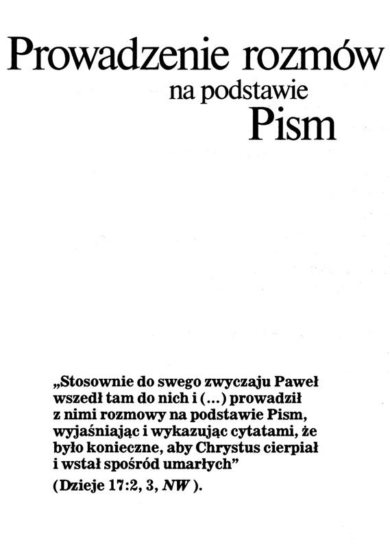 Prowadzenie rozmów na podstawie Pism wyd. 1991