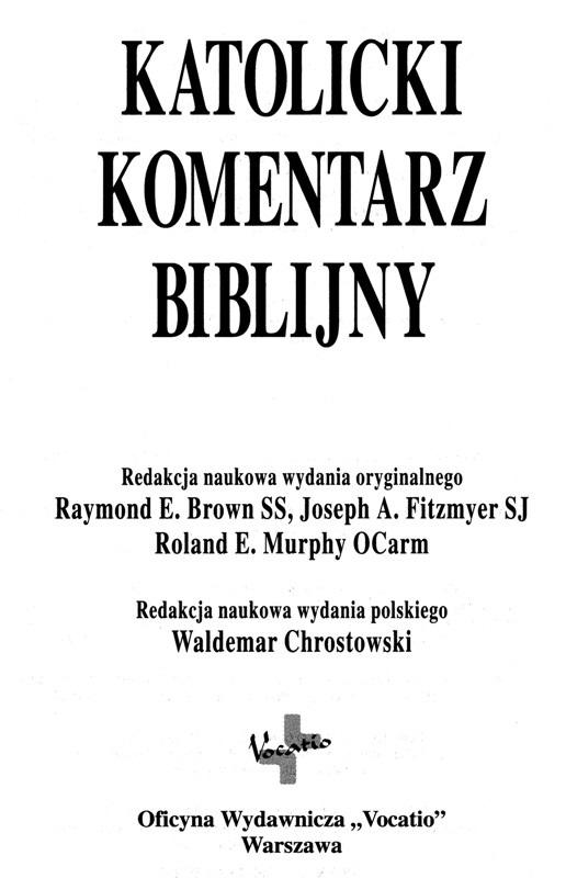 Katolicki Komentarz Biblijny
