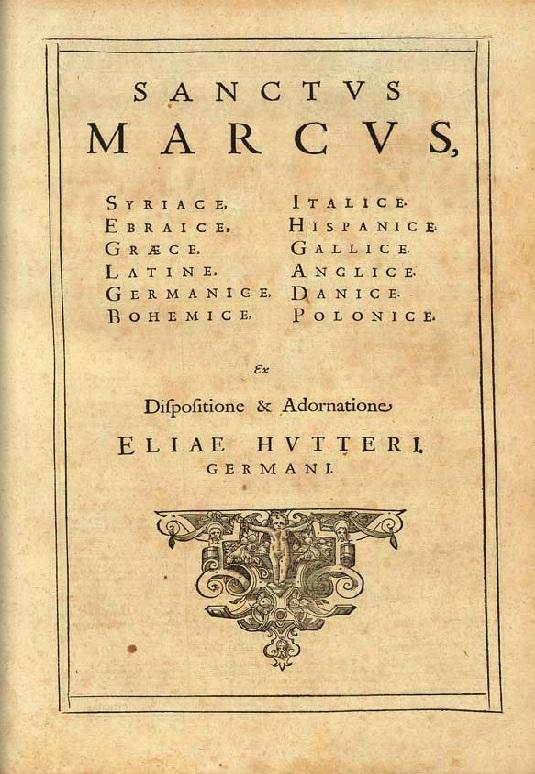 1599 Elias Hutter z Norymbergii