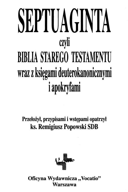 Septuaginta po polsku Vocatio