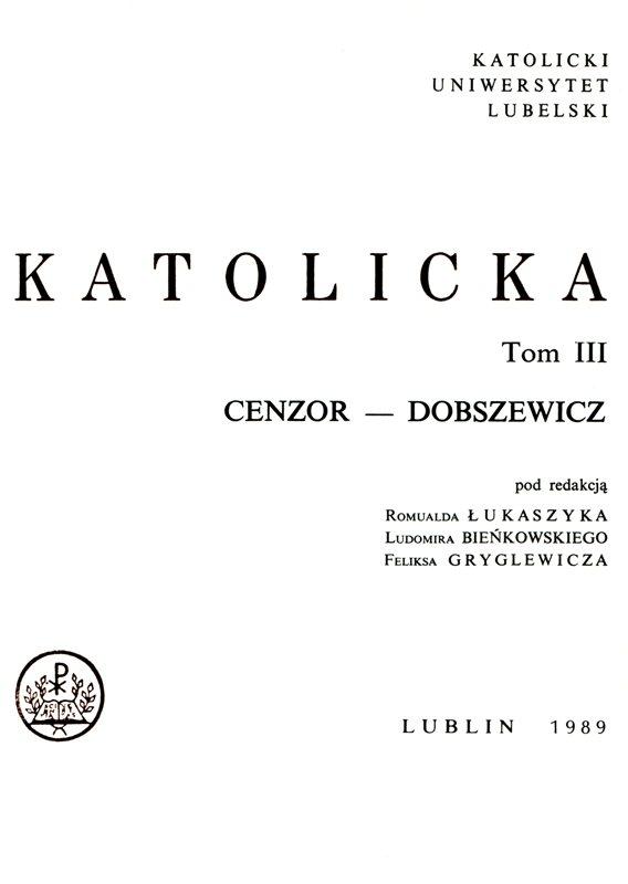 Encyklopedia Katolicka t.III