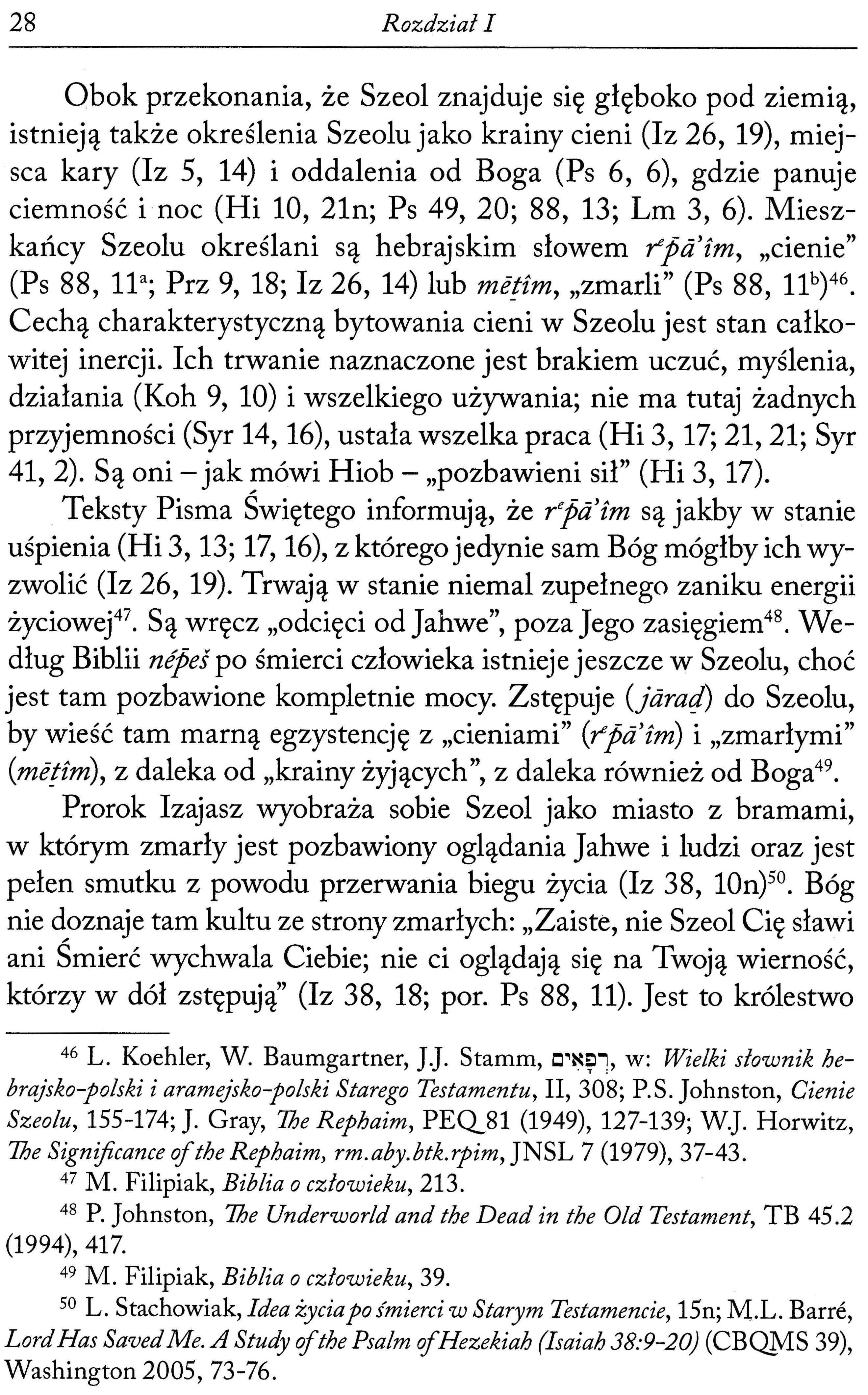 Perspektywa eschatologiczna proegzystencji wierzących w przekładzie Pisma Świętego