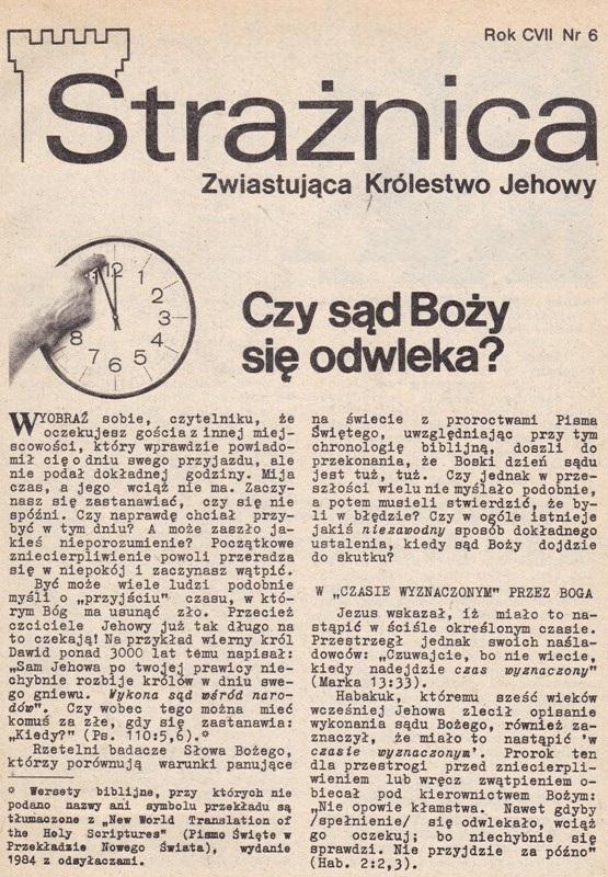 Strażnica 1986 Nr 6