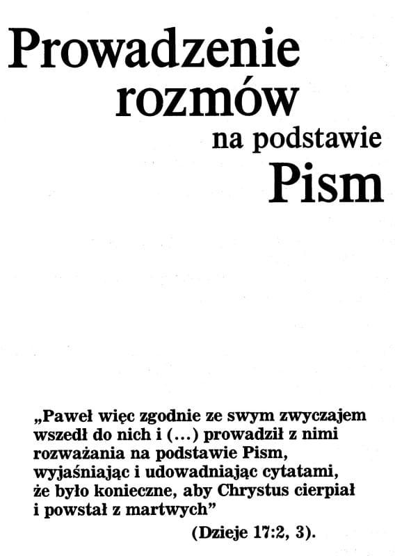 Prowadzenie rozmów na podstawie Pism wyd.2001