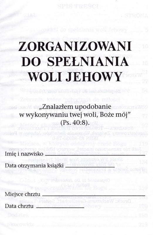 Zorganizowani do spełniania woli Jehowy