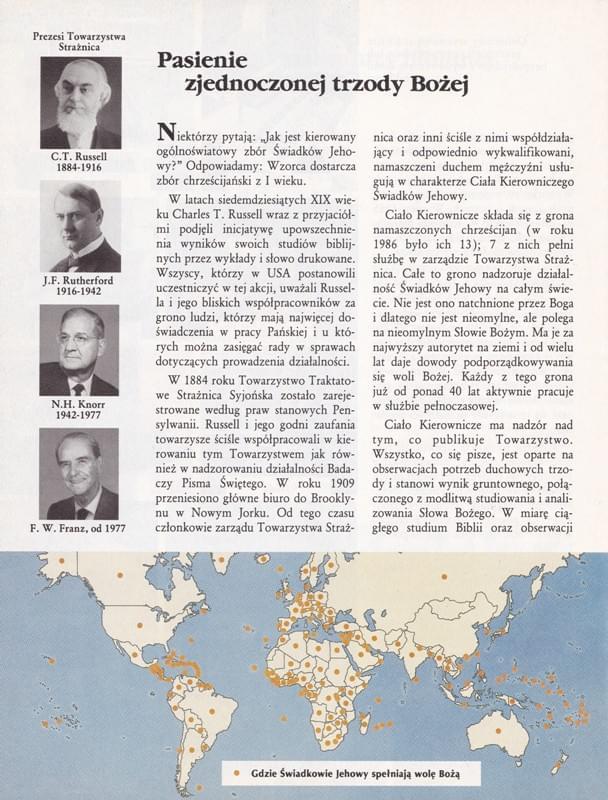 Świadkowie Jehowy zjednoczeni w spełnianiu woli Bożej na całym świecie