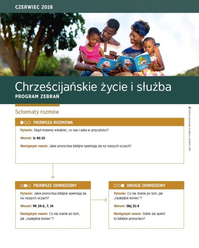 Chrześcijańskie życie i służba Czerwiec 2018
