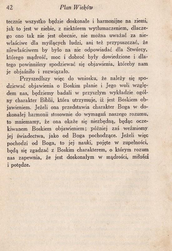 Boski Plan Wieków wyd. 1925