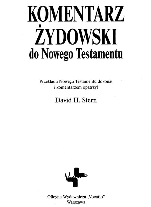 Komentarz Żydowski do Nowego Testamentu Vocatio
