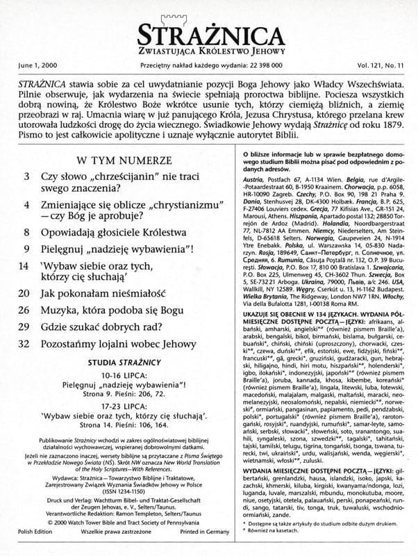 Strażnica 1 czerwca 2000