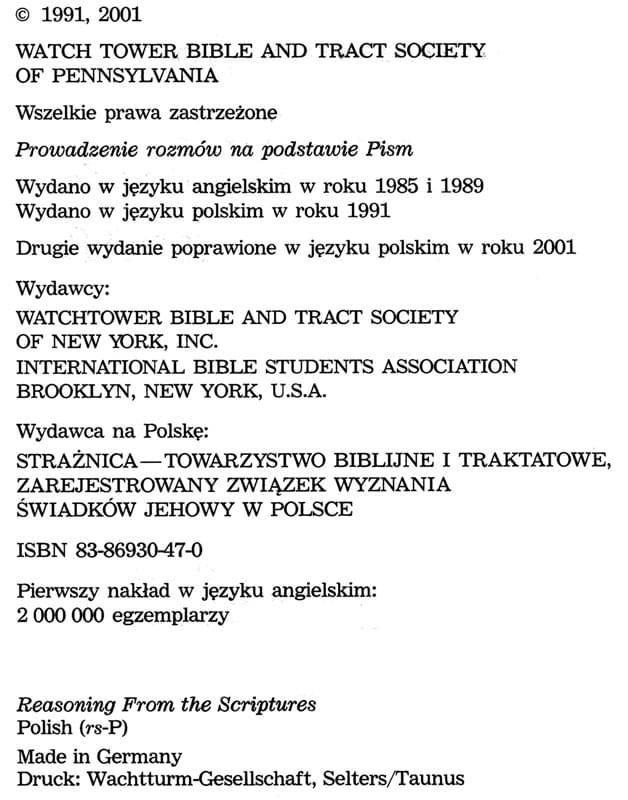 Prowadzenie rozmów 2001