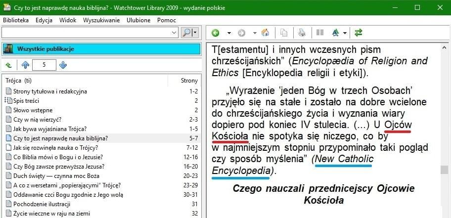 Biblioteka Strażnicy, wyd.pol.2009