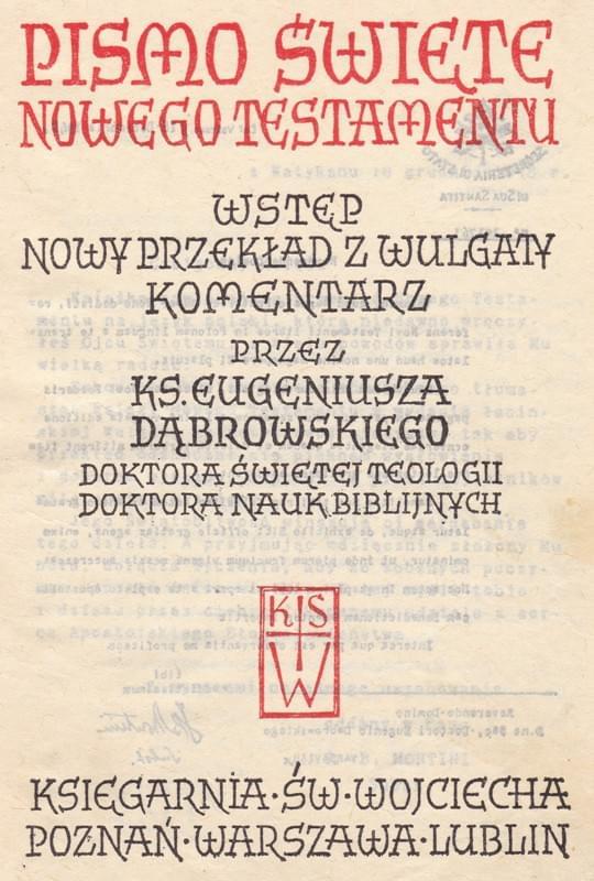 Nowy Testament ks. E. Dąbrowski