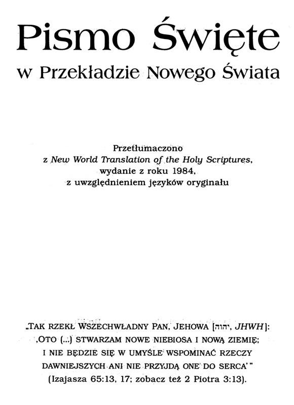 Przekład Nowego Świata