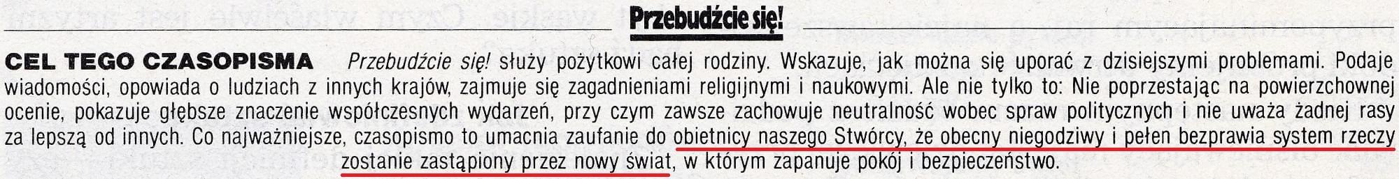 Przebudźcie się! 8 października 1995