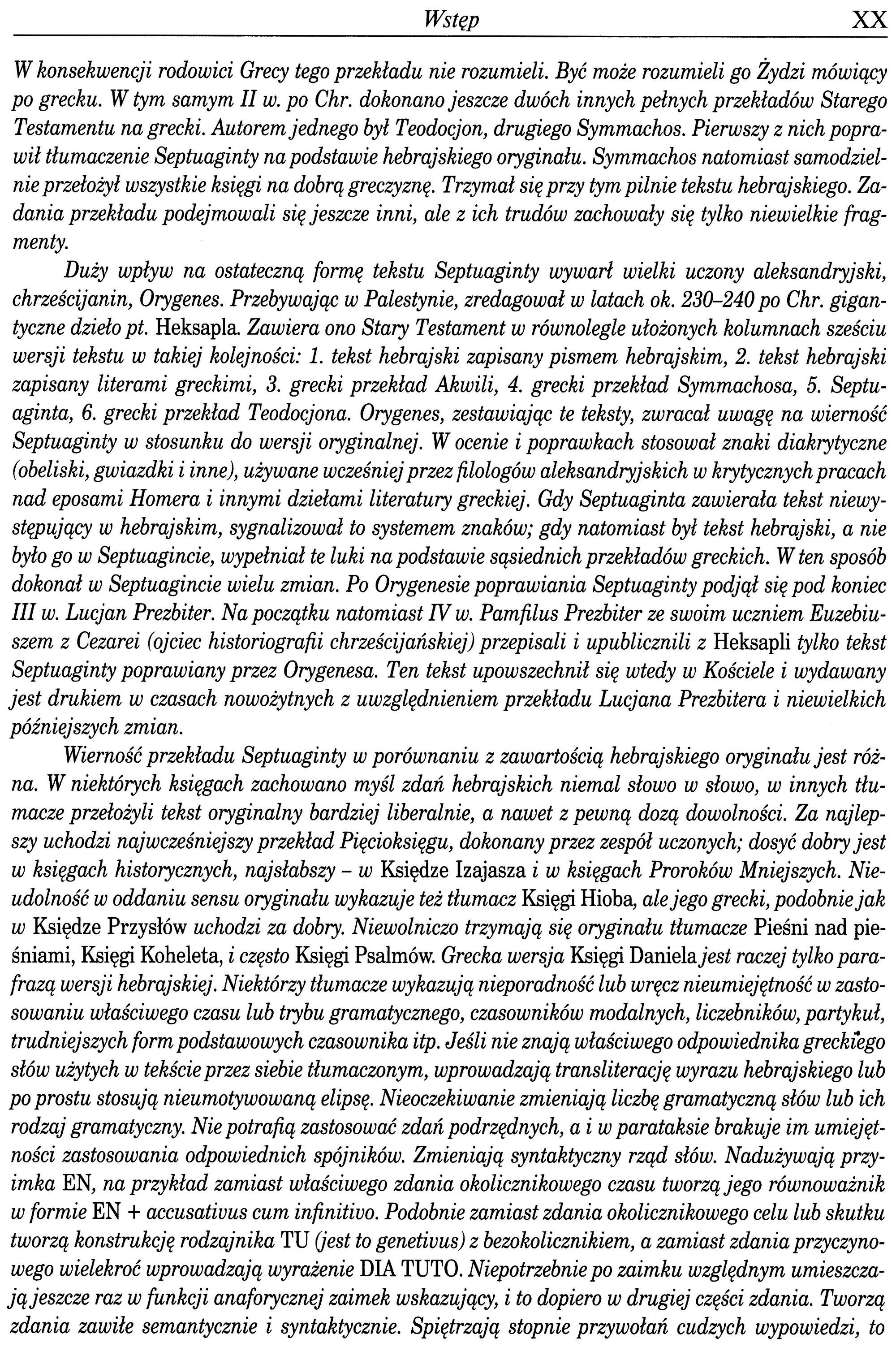 Septuaginta Vocatio po polsku