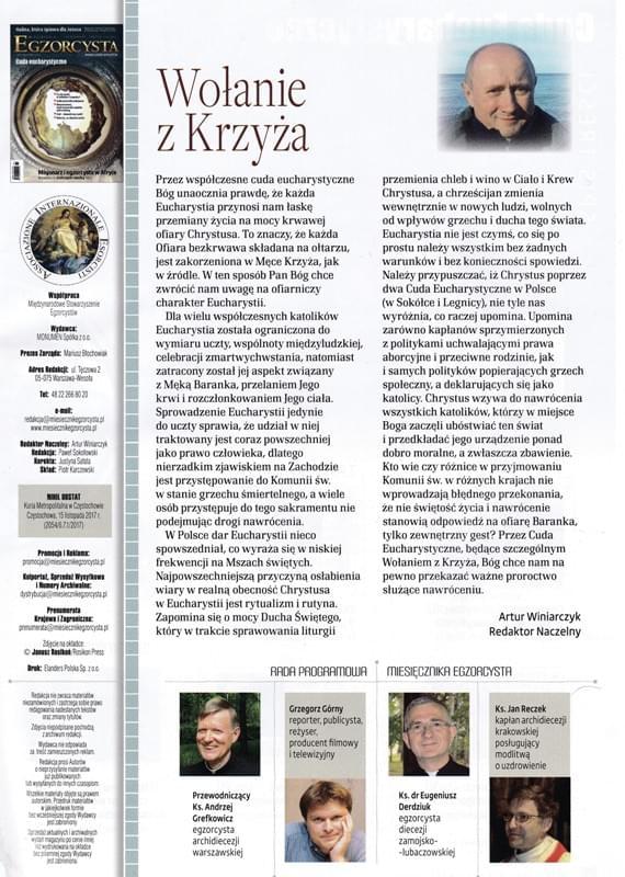 Miesięcznik Egzorcysta Grudzień 2017