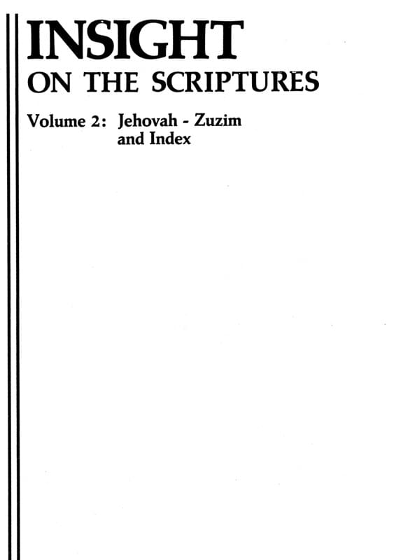 Insight on the scriptures