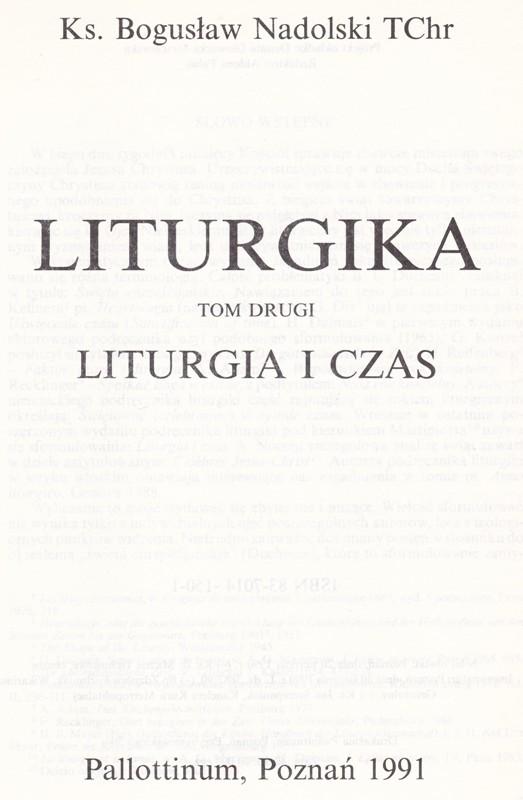 Liturgika Tom II Liturgika i Czas