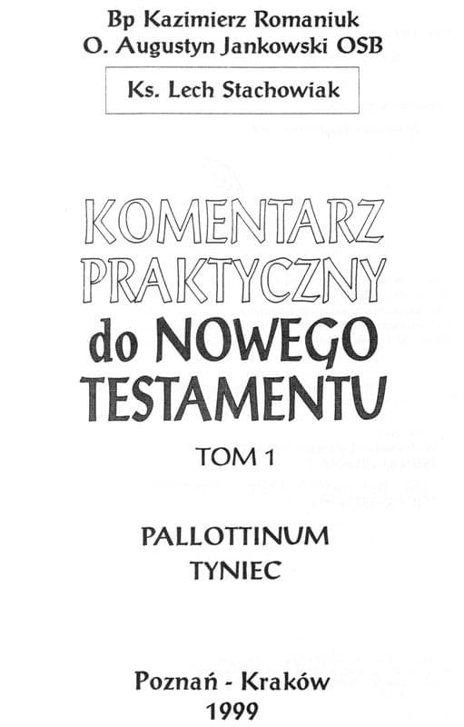 Komentarz Praktyczny do Nowego Testamentu
