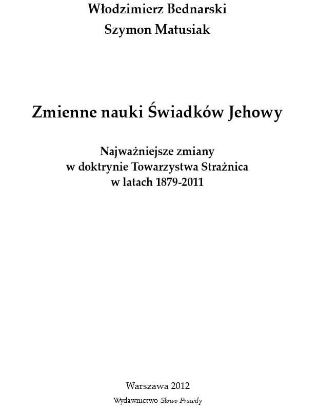 Zmienne nauki Świadków Jehowy