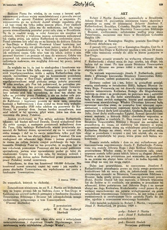 Złoty Wiek 15 kwietnia 1931