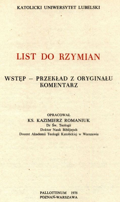 List do Rzymina KUL