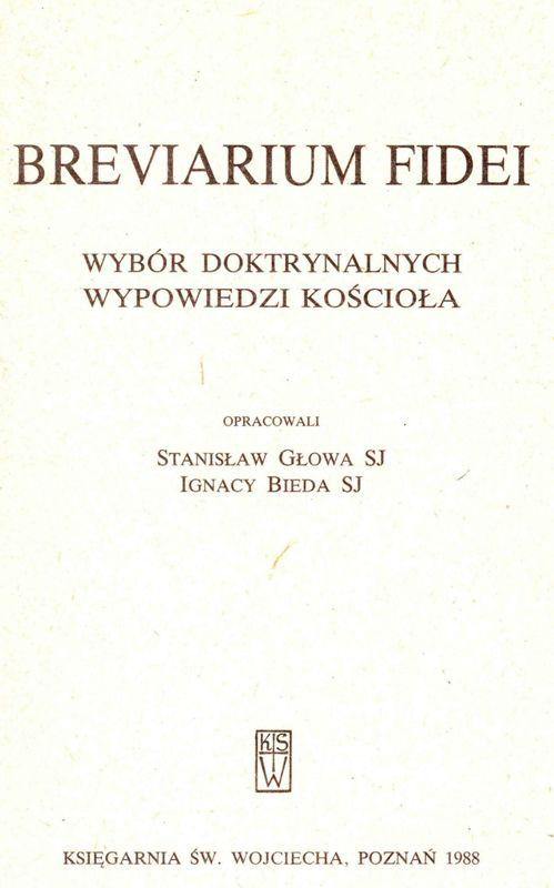 Breviarium Fidei Poznań 1988
