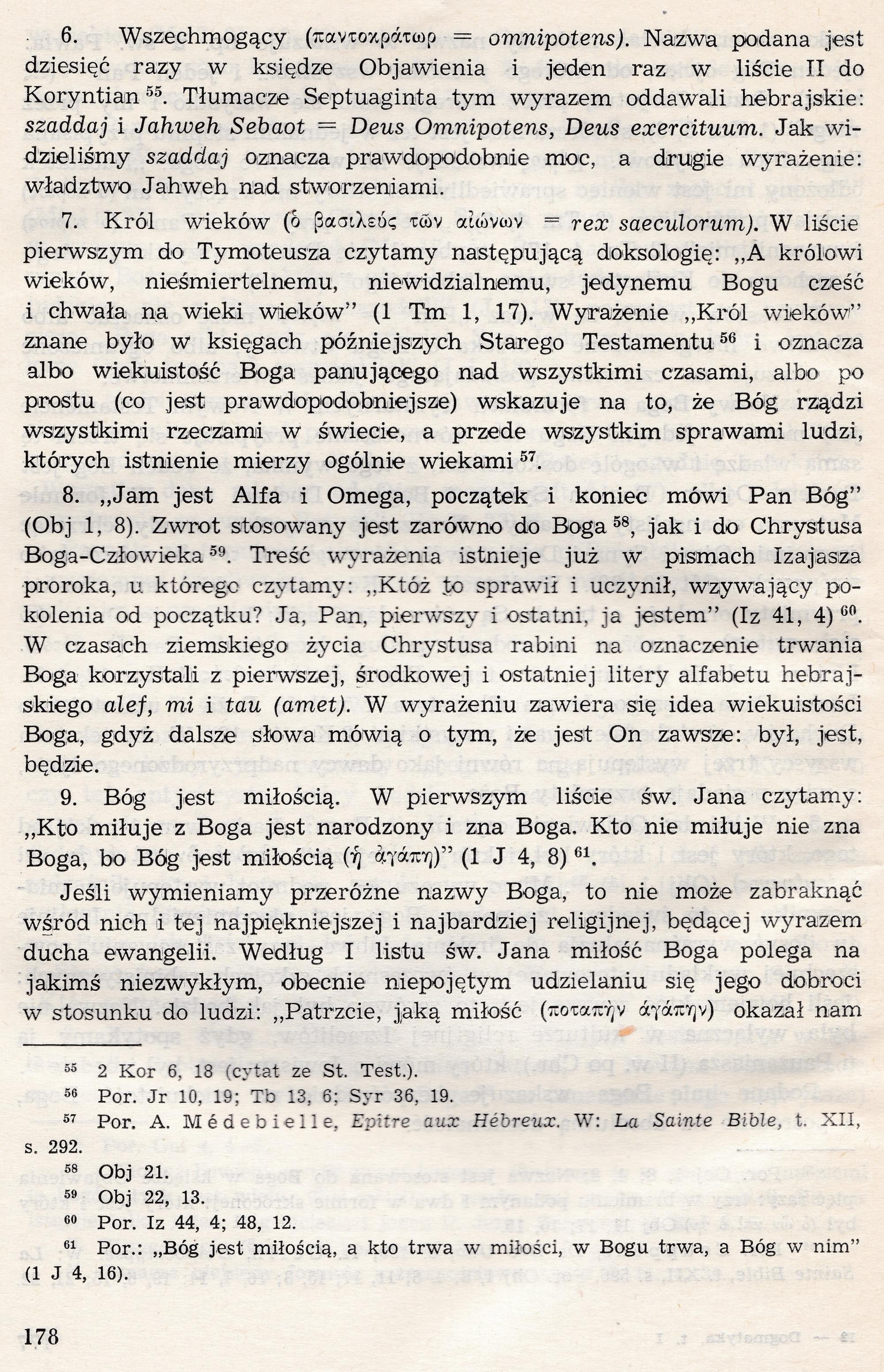 Bóg Jeden w Trójcy Osób Dogmatyka Katolicka