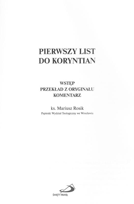 1 List do Koryntian