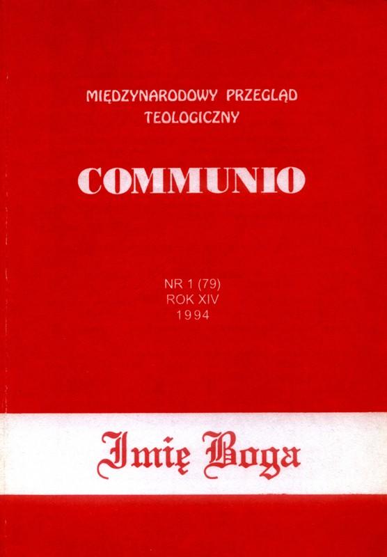 Communio Imię Boga