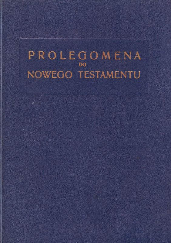 Prolegomena do Nowego Testamentu