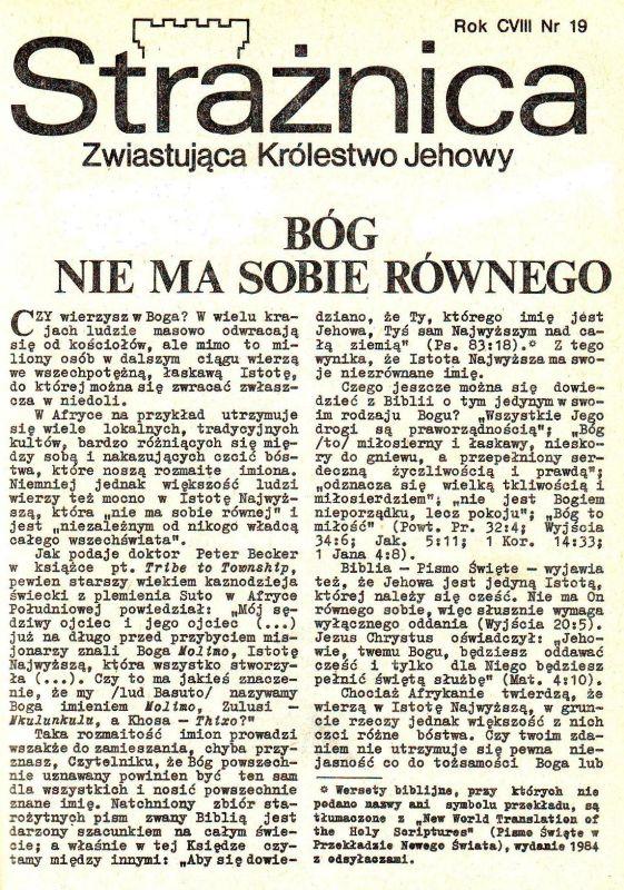 Strażnica 1987 Nr 19