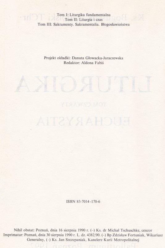 Liturgika IV