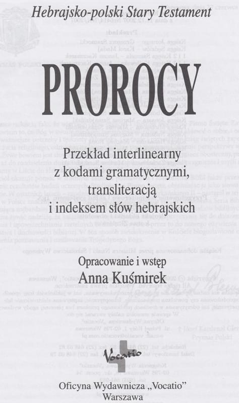 Prorocy Vocatio