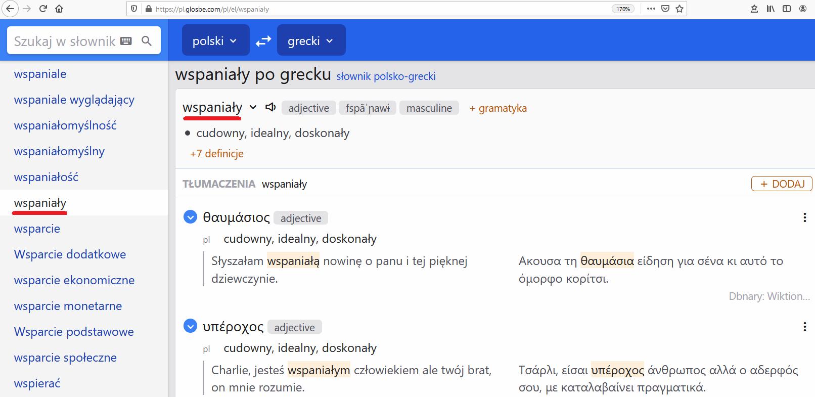 słownik grecko-polski i polsko-grecki