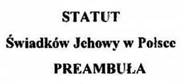 Statut Świadków Jehowy