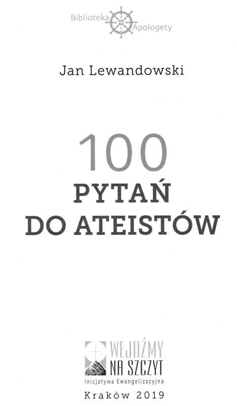 100 pytań do ateistów