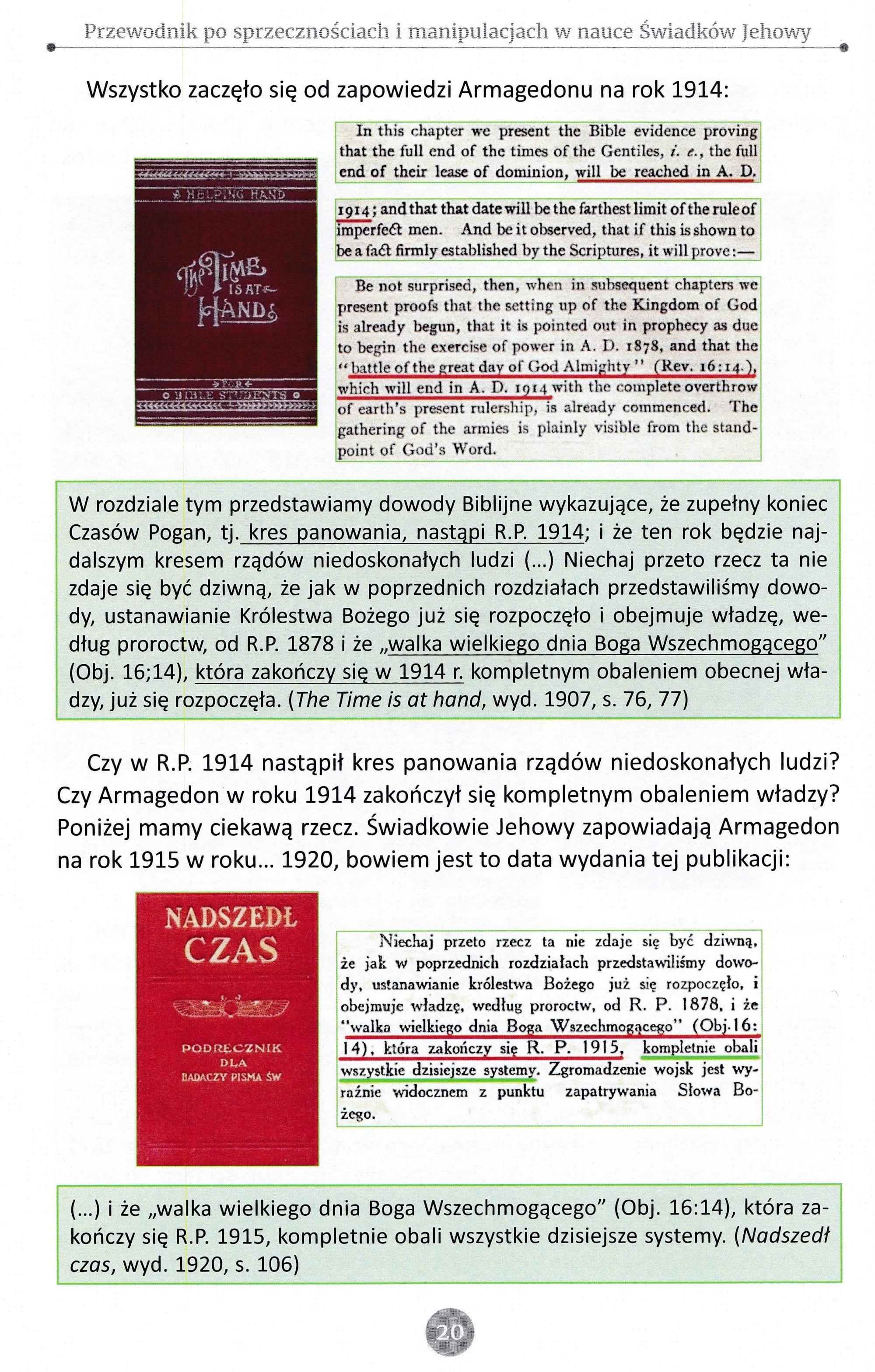 Przewodnik po sprzecznościach i manipulacjach w nauce Świadków Jehowy